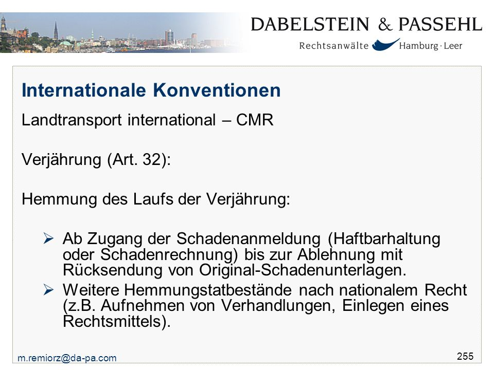 Internationale Konventionen