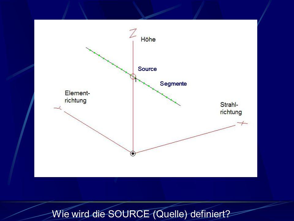 Wie wird die SOURCE (Quelle) definiert
