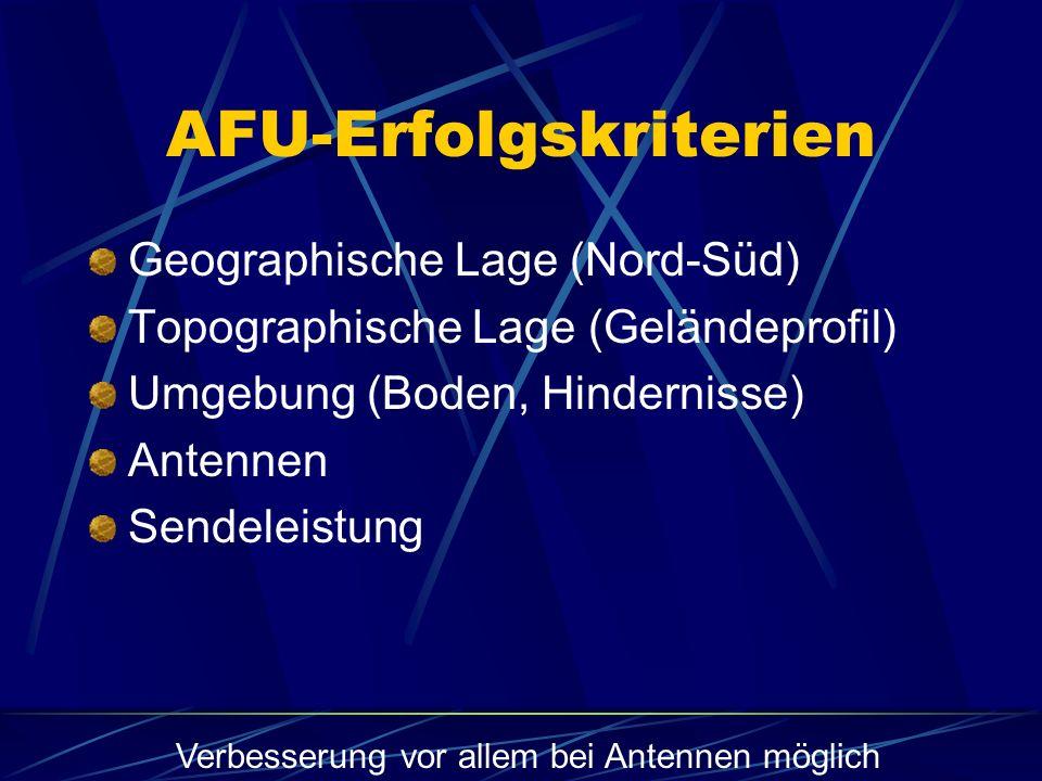 AFU-Erfolgskriterien