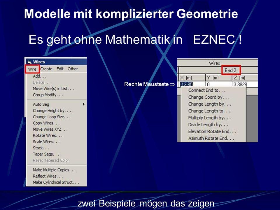 Modelle mit komplizierter Geometrie