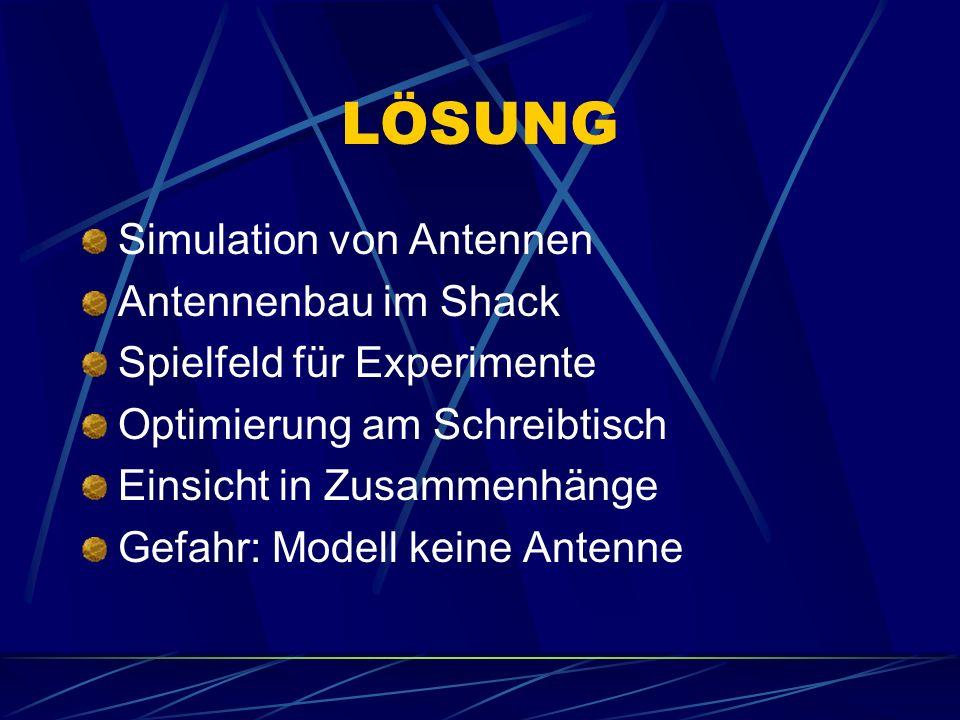 LÖSUNG Simulation von Antennen Antennenbau im Shack