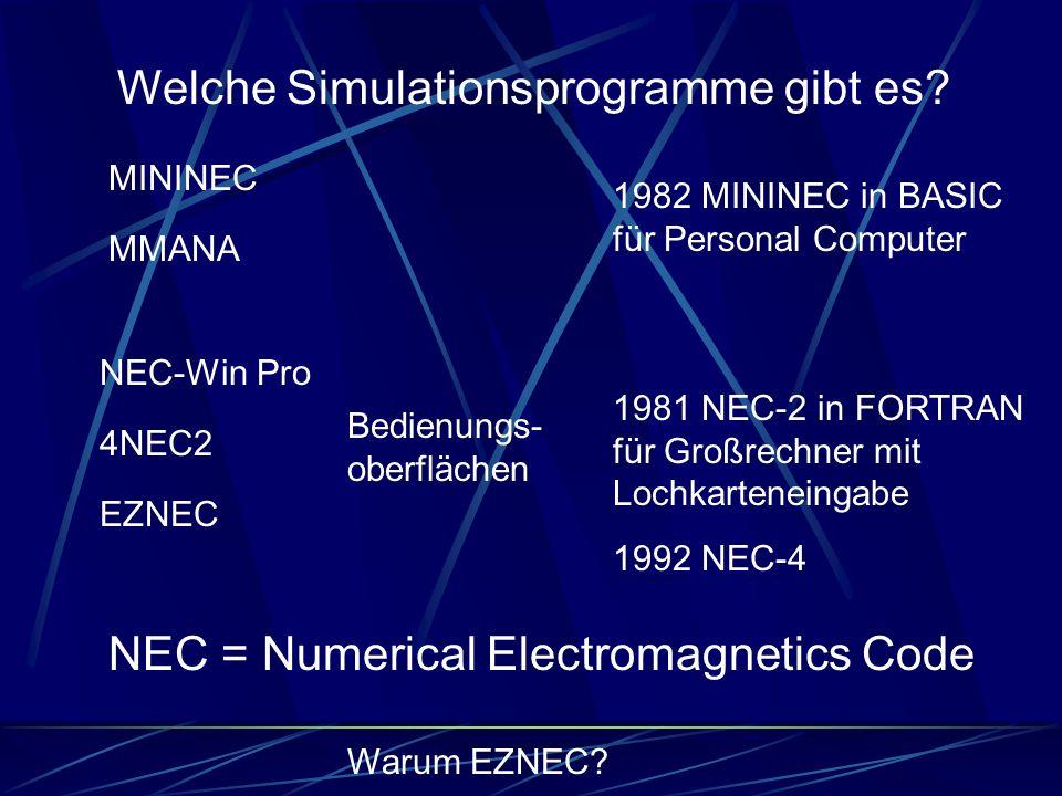 Welche Simulationsprogramme gibt es
