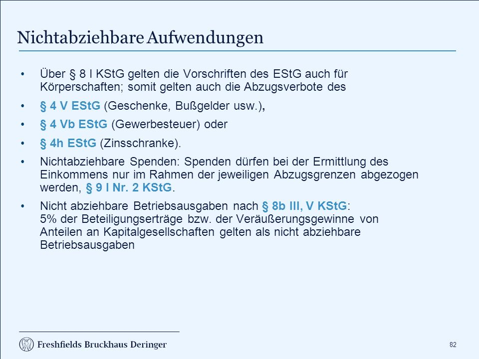 Zinsschranke (§ 8a KStG, § 4 h EStG)