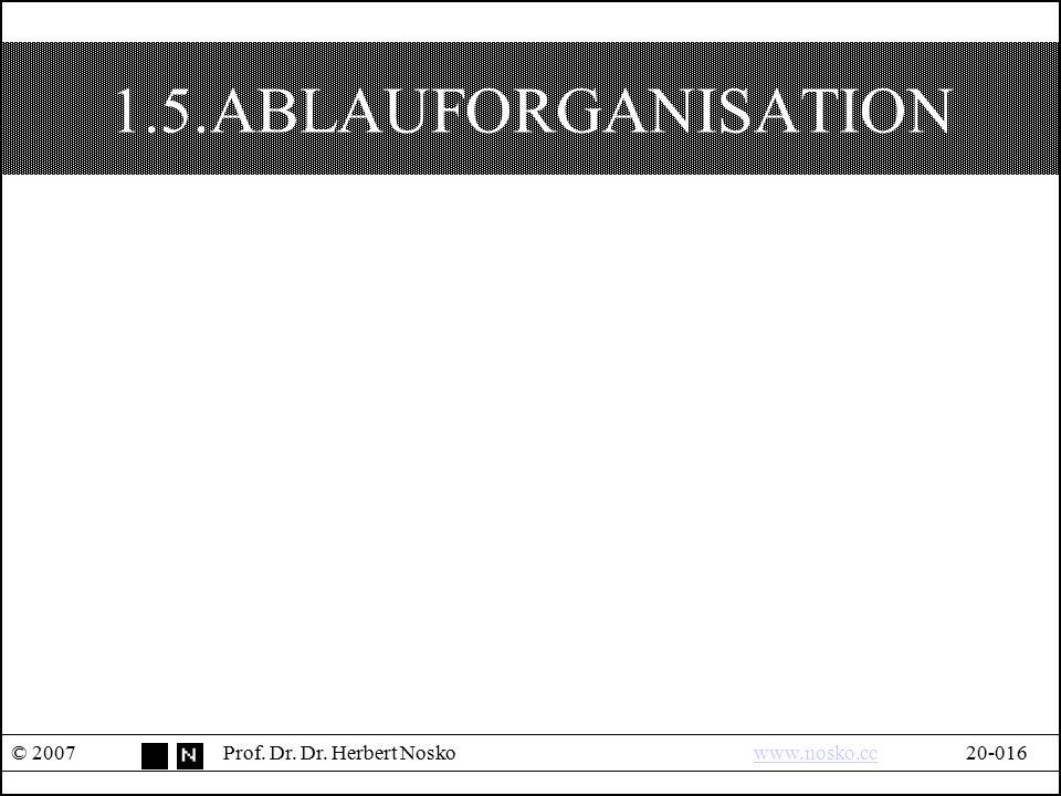 1.5.ABLAUFORGANISATION © 2007 Prof. Dr. Dr. Herbert Nosko www.nosko.cc 20-016