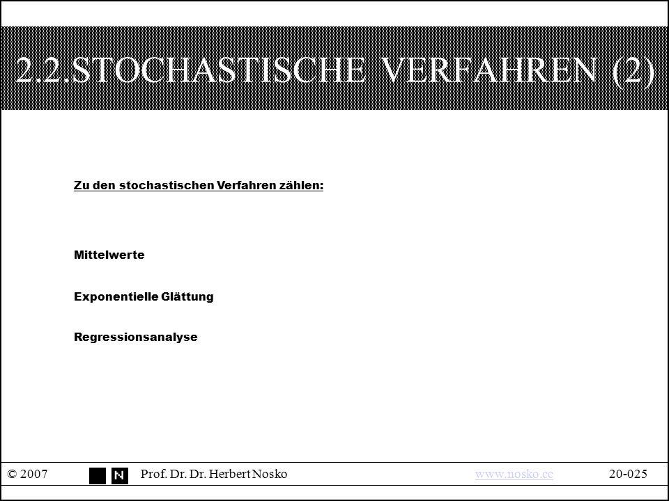 2.2.STOCHASTISCHE VERFAHREN (2)