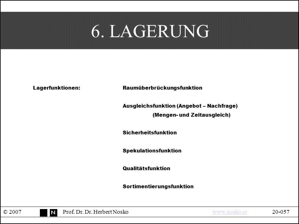 6. LAGERUNG © 2007 Prof. Dr. Dr. Herbert Nosko www.nosko.cc 20-057