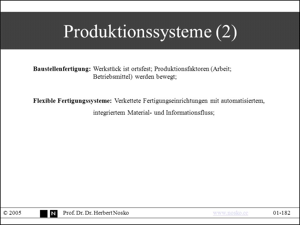 Produktionssysteme (2)