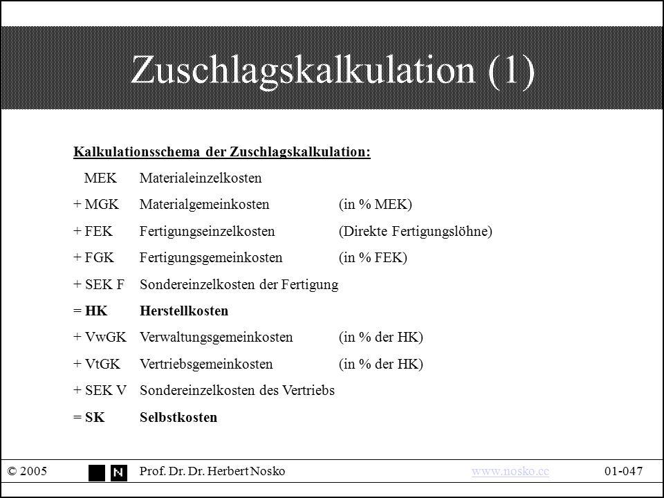 Zuschlagskalkulation (1)