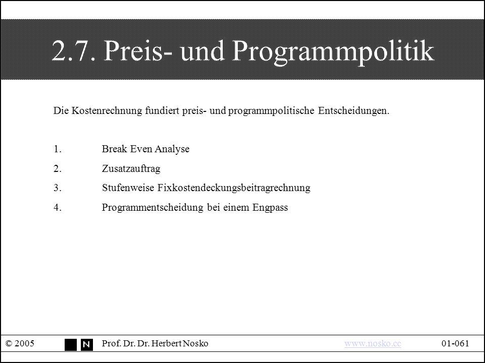 2.7. Preis- und Programmpolitik