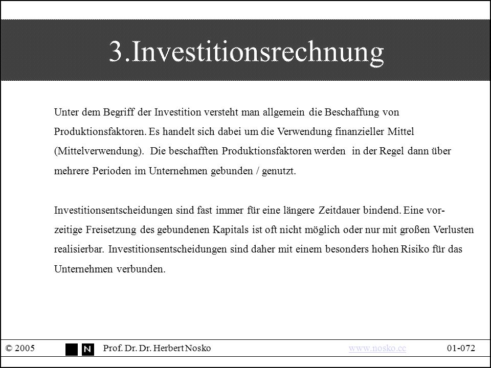 3.Investitionsrechnung