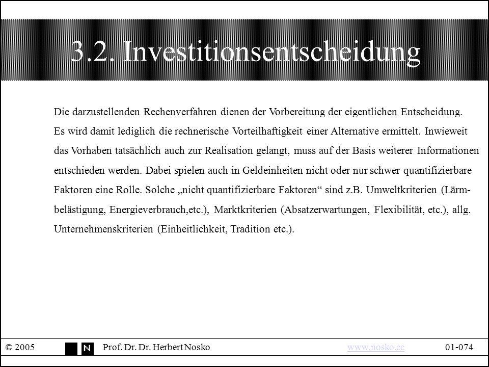 3.2. Investitionsentscheidung