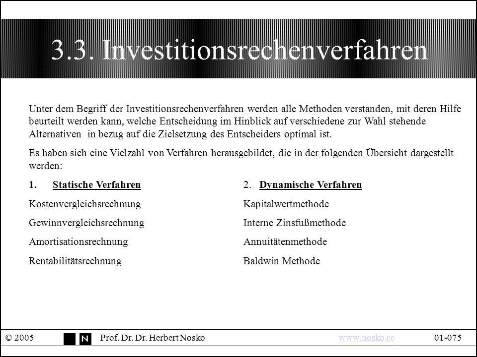 3.3. Investitionsrechenverfahren