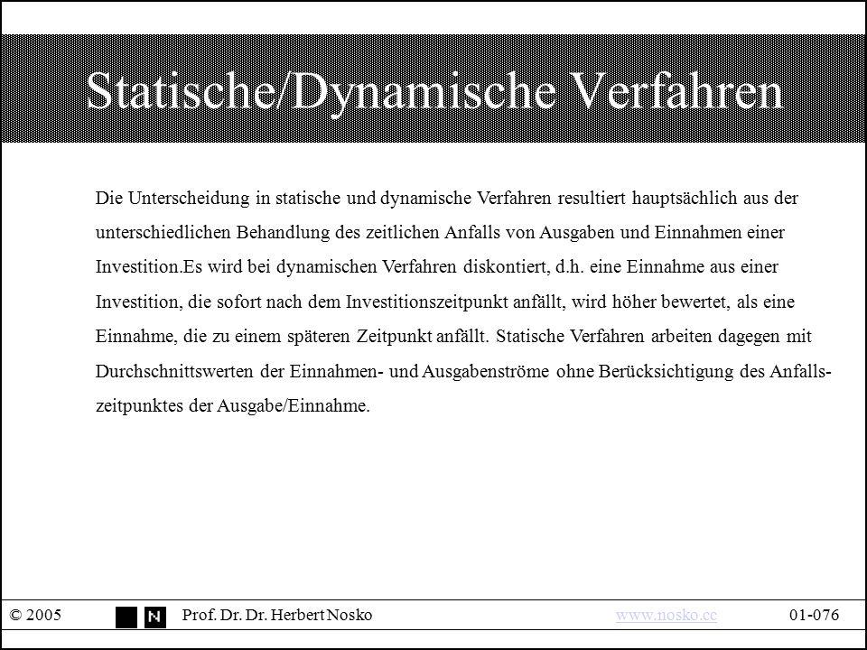 Statische/Dynamische Verfahren