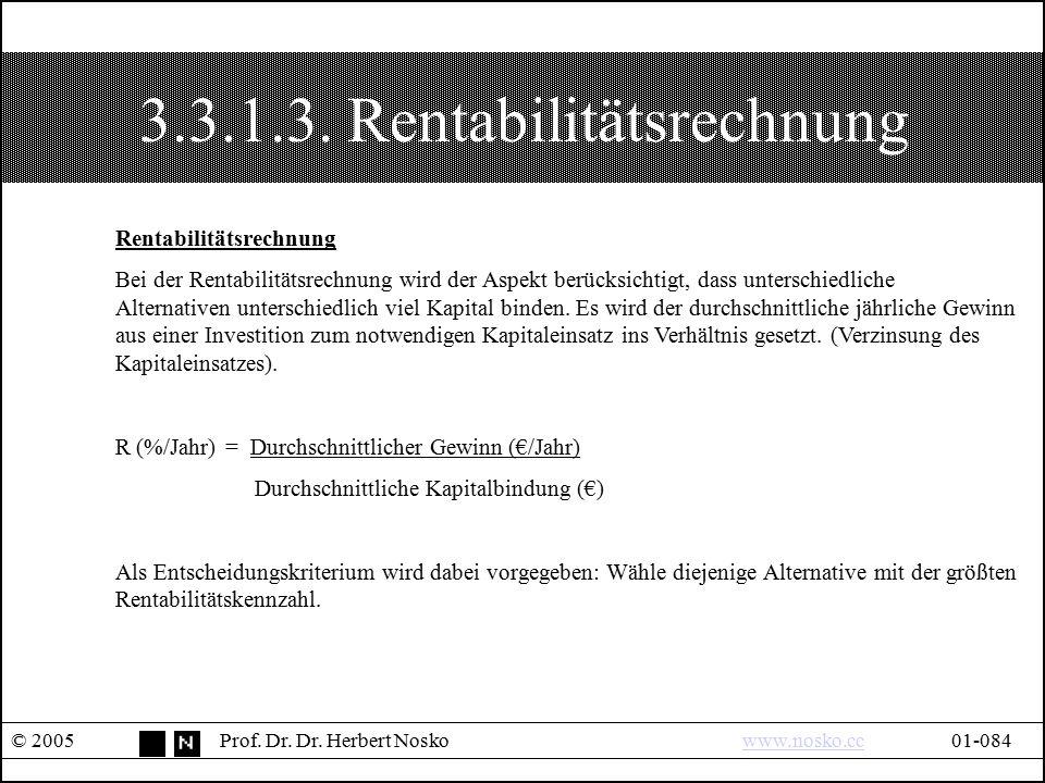 3.3.1.3. Rentabilitätsrechnung