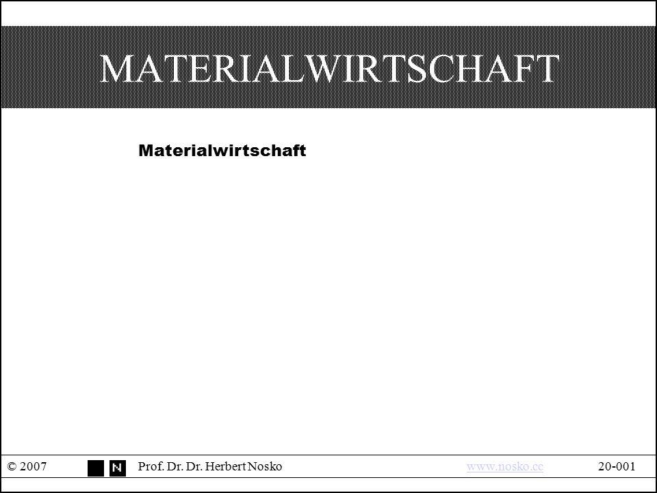 MATERIALWIRTSCHAFT Materialwirtschaft