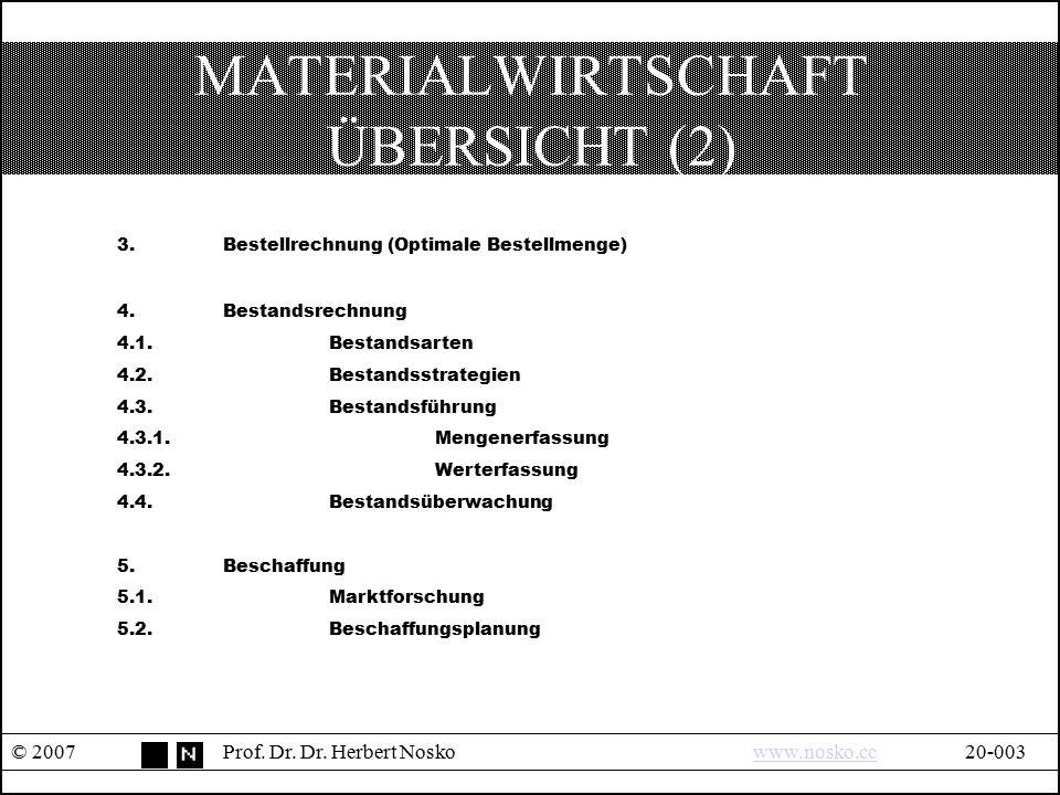 MATERIALWIRTSCHAFT ÜBERSICHT (2)
