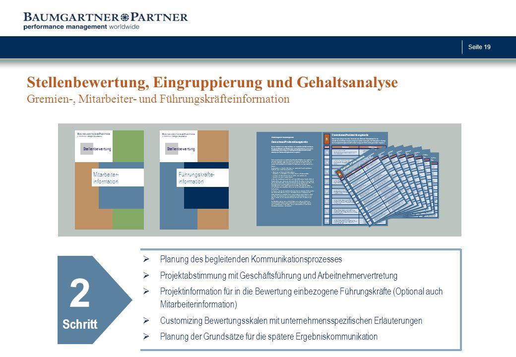 Stellenbewertung, Eingruppierung und Gehaltsanalyse Gremien-, Mitarbeiter- und Führungskräfteinformation