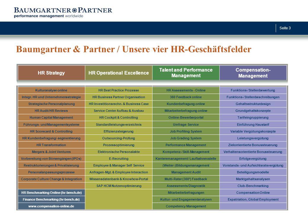 Baumgartner & Partner / Unsere vier HR-Geschäftsfelder