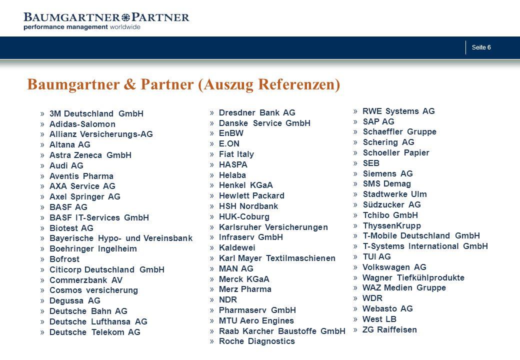 Baumgartner & Partner (Auszug Referenzen)