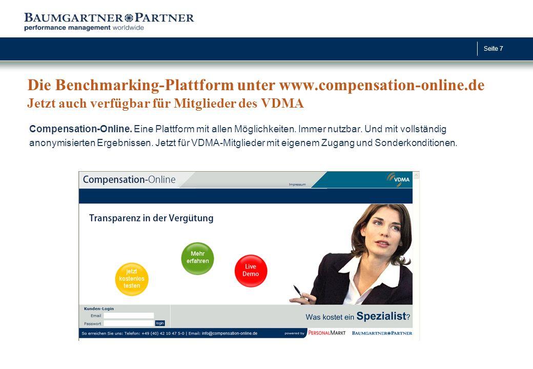 Die Benchmarking-Plattform unter www. compensation-online