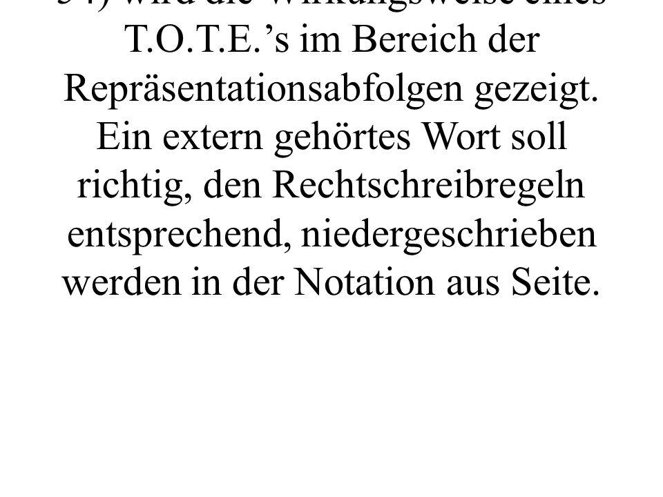 """Anhand """"der visuellen Buchstabierstrategie (vgl DILTS, BANDLER, GRINDER 1991, S."""