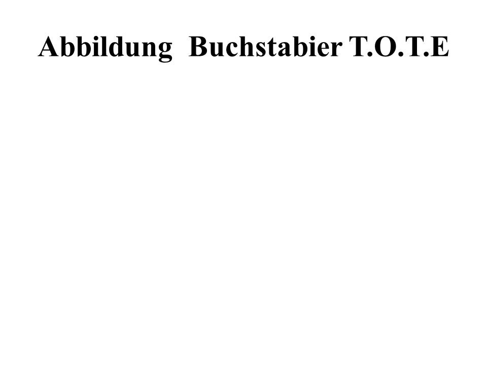Abbildung Buchstabier T.O.T.E