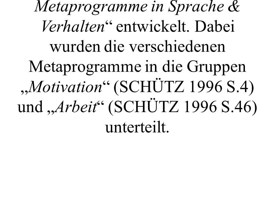 """Im Zusammenhang mit Personalentwicklung und Recruiting hat SCHÜTZ ein Handbuch der """"NLP - Metaprogramme in Sprache & Verhalten entwickelt."""