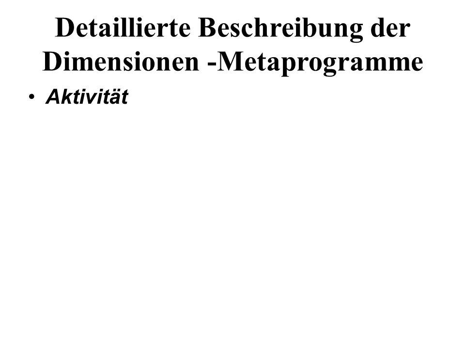 Detaillierte Beschreibung der Dimensionen -Metaprogramme