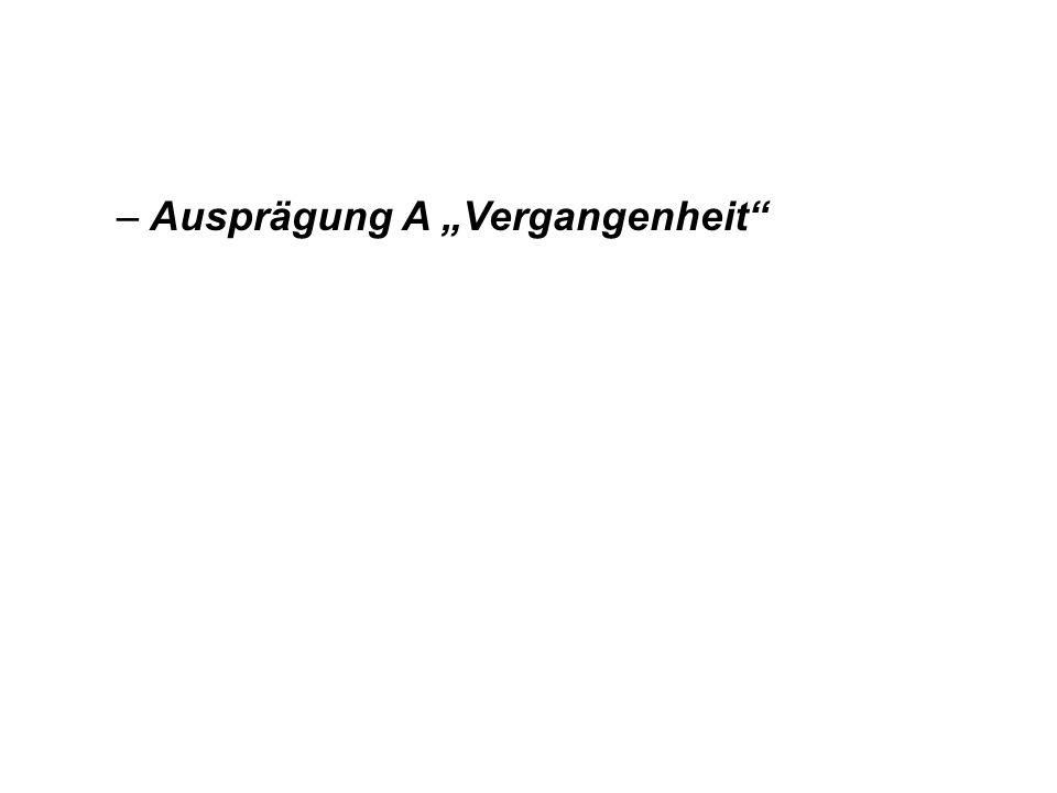 """Ausprägung A """"Vergangenheit"""