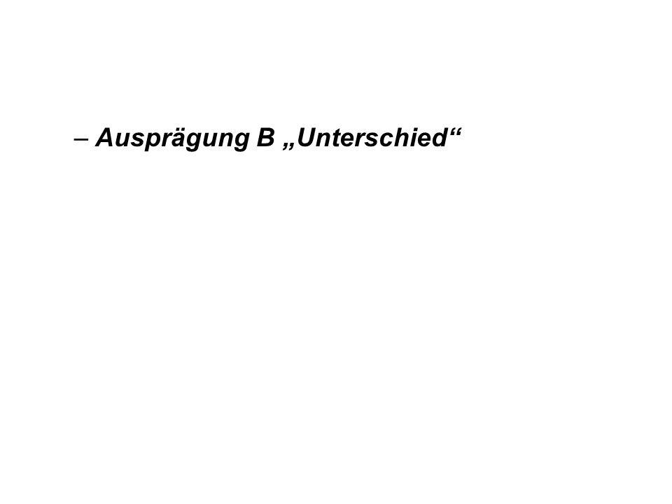 """Ausprägung B """"Unterschied"""