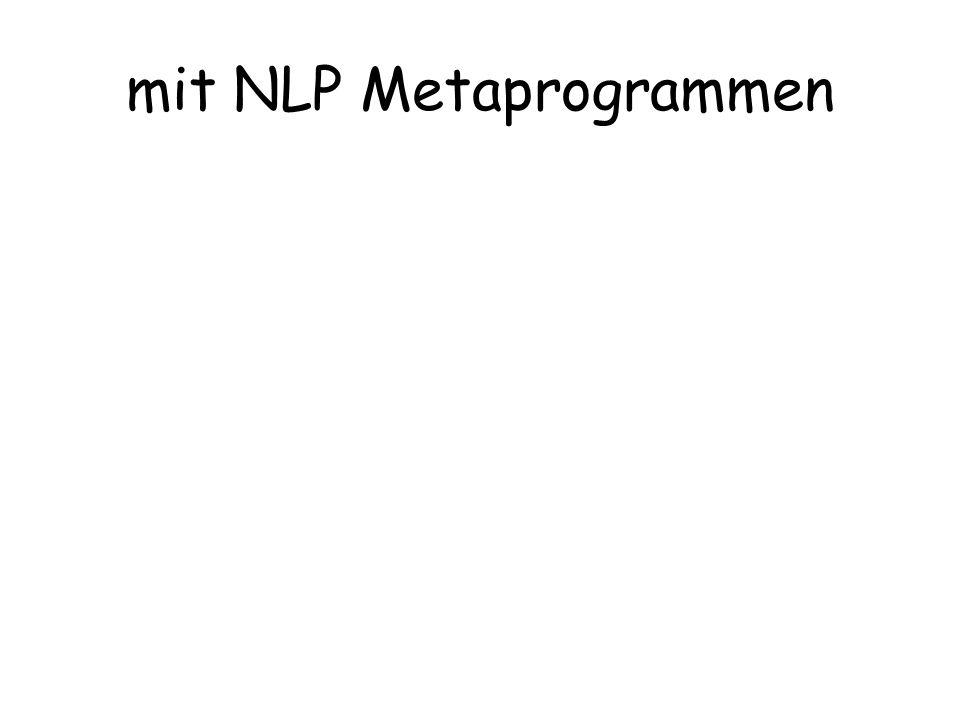 mit NLP Metaprogrammen