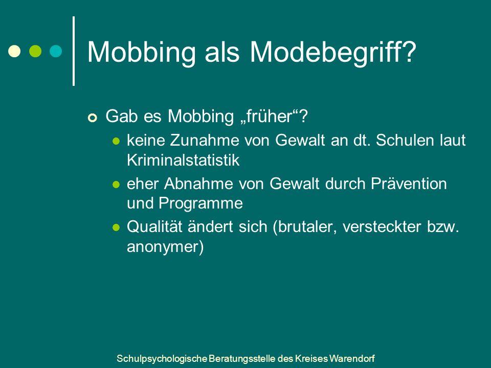 Mobbing als Modebegriff