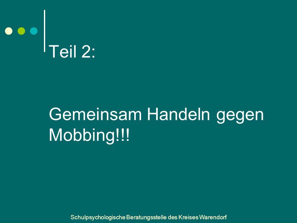Teil 2: Gemeinsam Handeln gegen Mobbing!!!