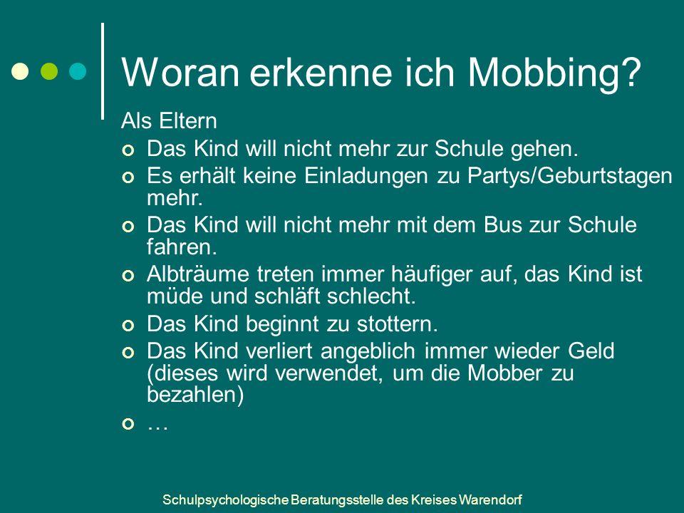 Woran erkenne ich Mobbing