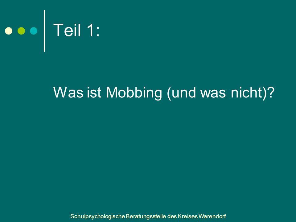 Teil 1: Was ist Mobbing (und was nicht)
