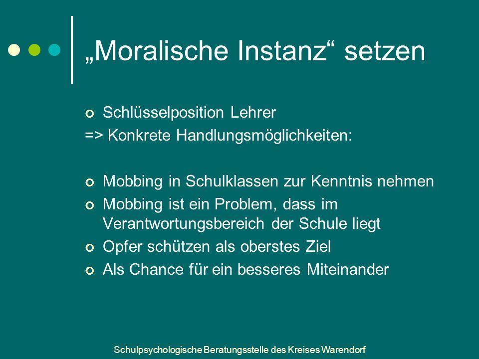 """""""Moralische Instanz setzen"""
