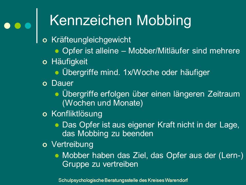 Kennzeichen Mobbing Kräfteungleichgewicht