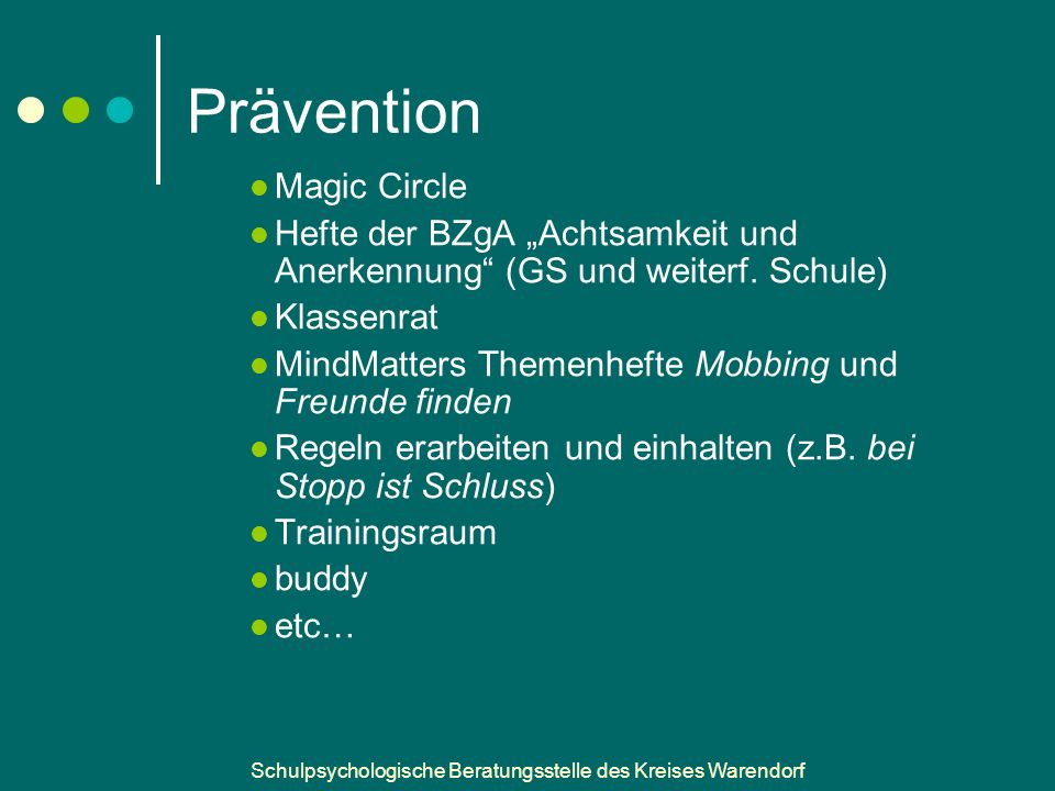 Prävention Magic Circle