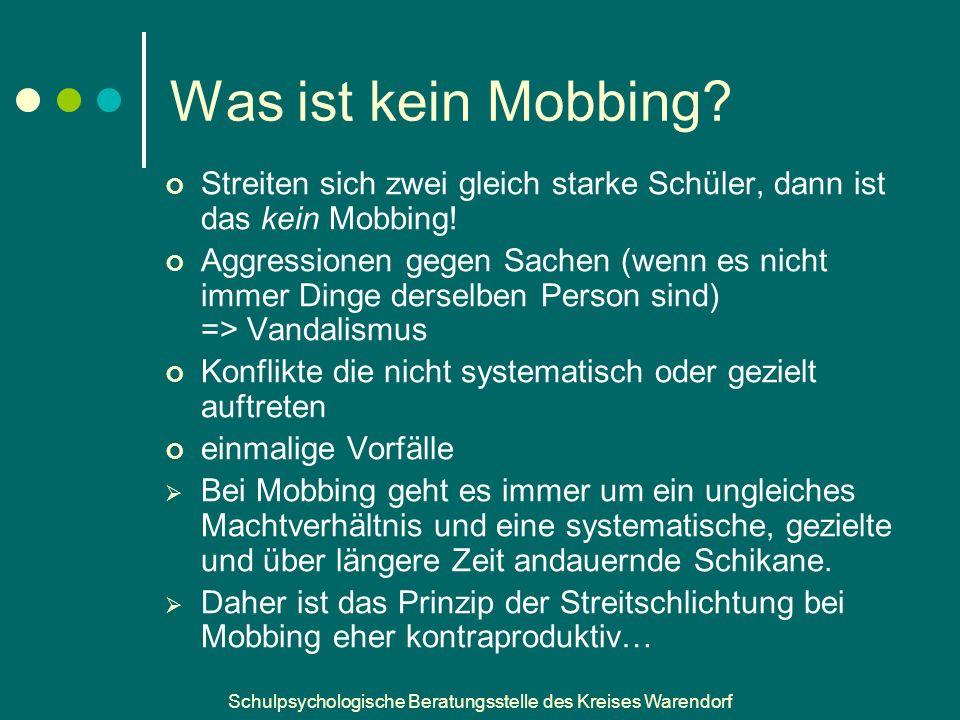 Was ist kein Mobbing Streiten sich zwei gleich starke Schüler, dann ist das kein Mobbing!