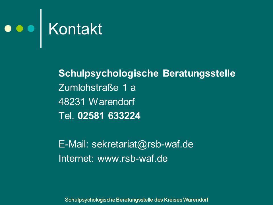 Kontakt Schulpsychologische Beratungsstelle Zumlohstraße 1 a