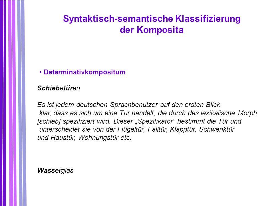 Syntaktisch-semantische Klassifizierung