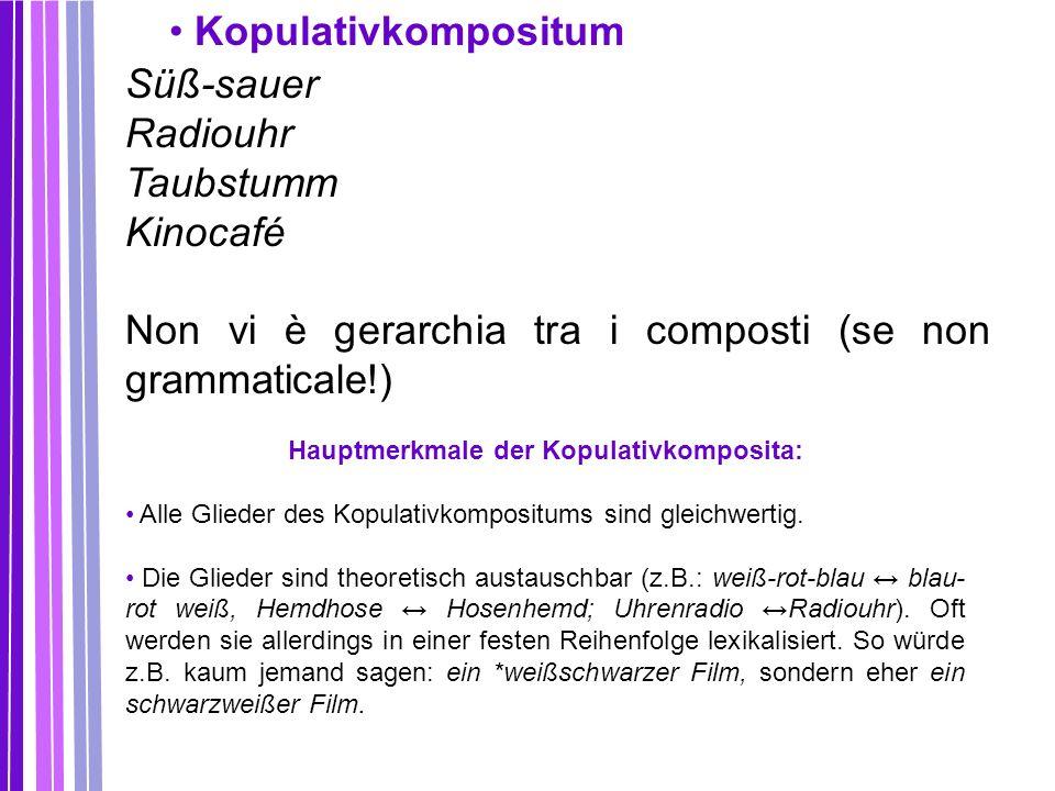 Hauptmerkmale der Kopulativkomposita: