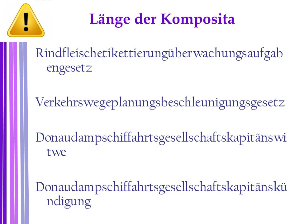 Länge der Komposita
