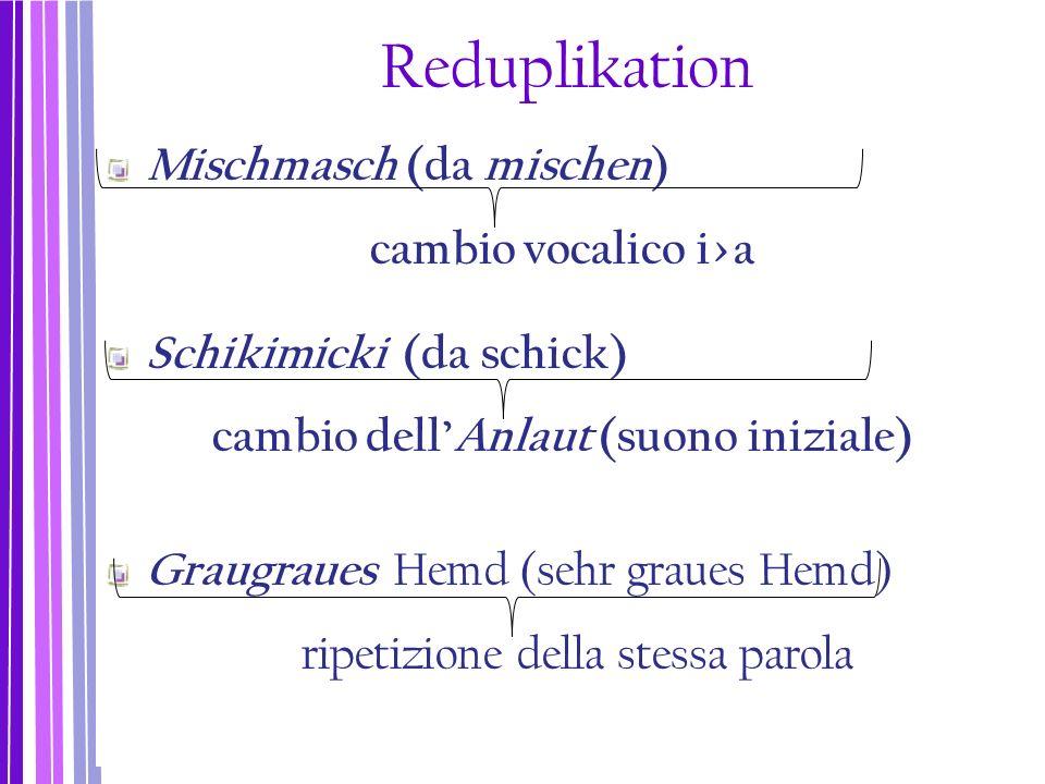 cambio vocalico i>a cambio dell'Anlaut (suono iniziale)
