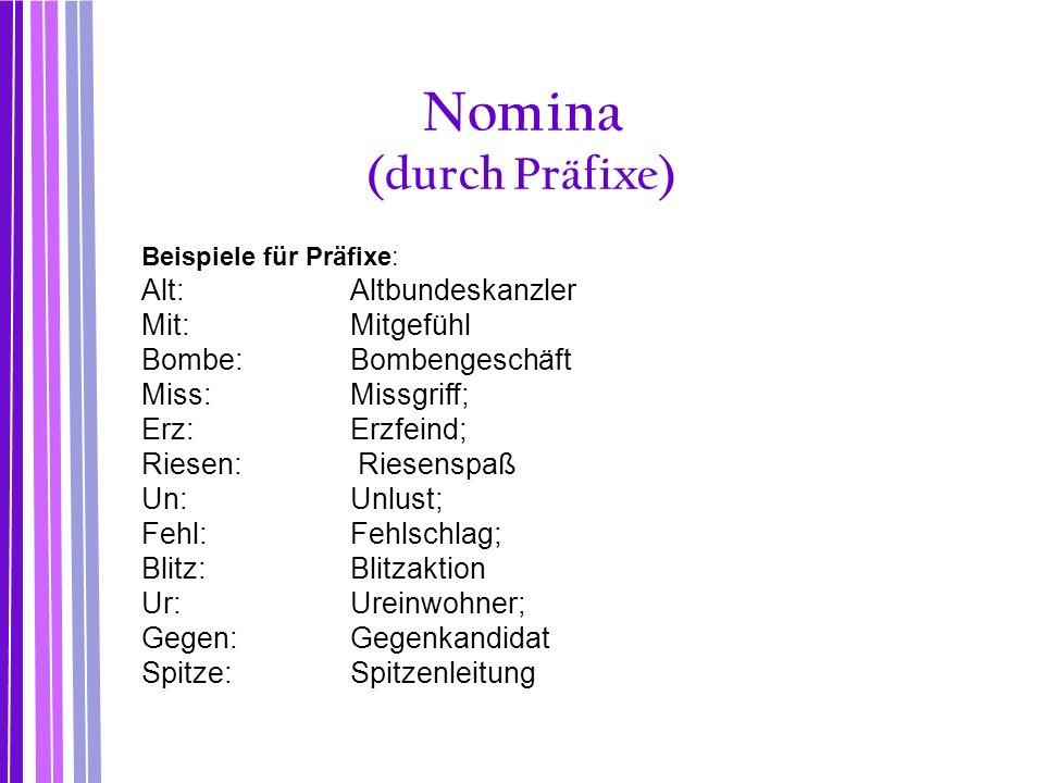 Nomina (durch Präfixe)