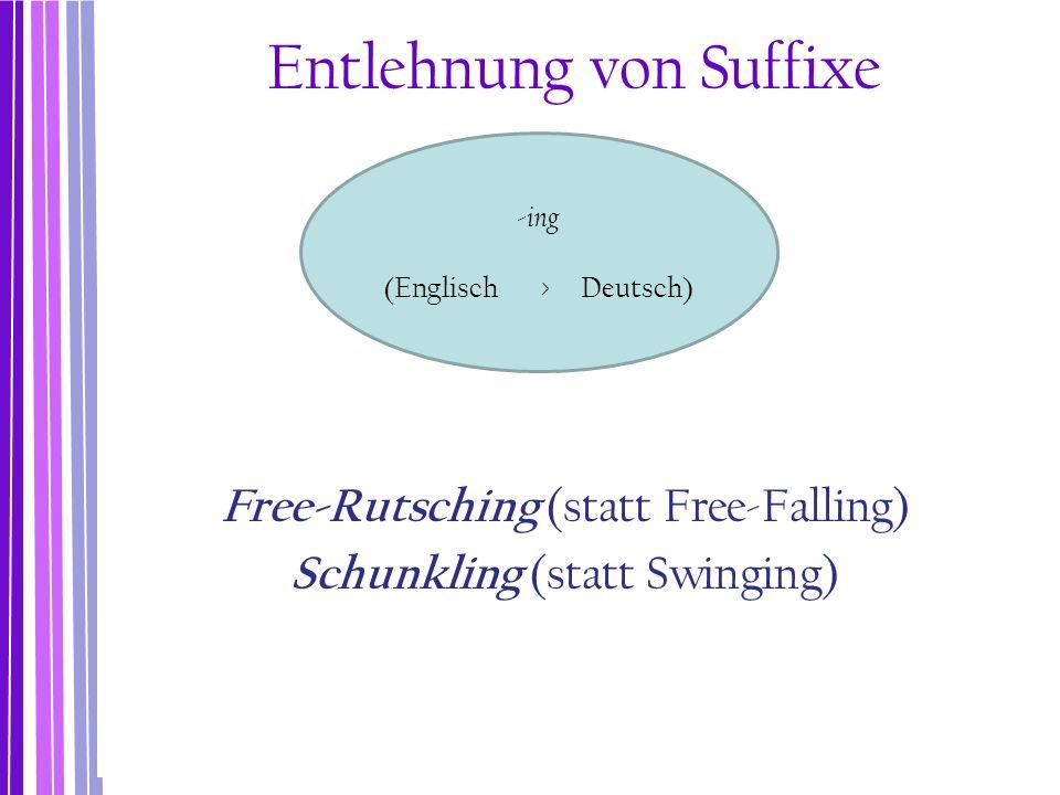 Entlehnung von Suffixe