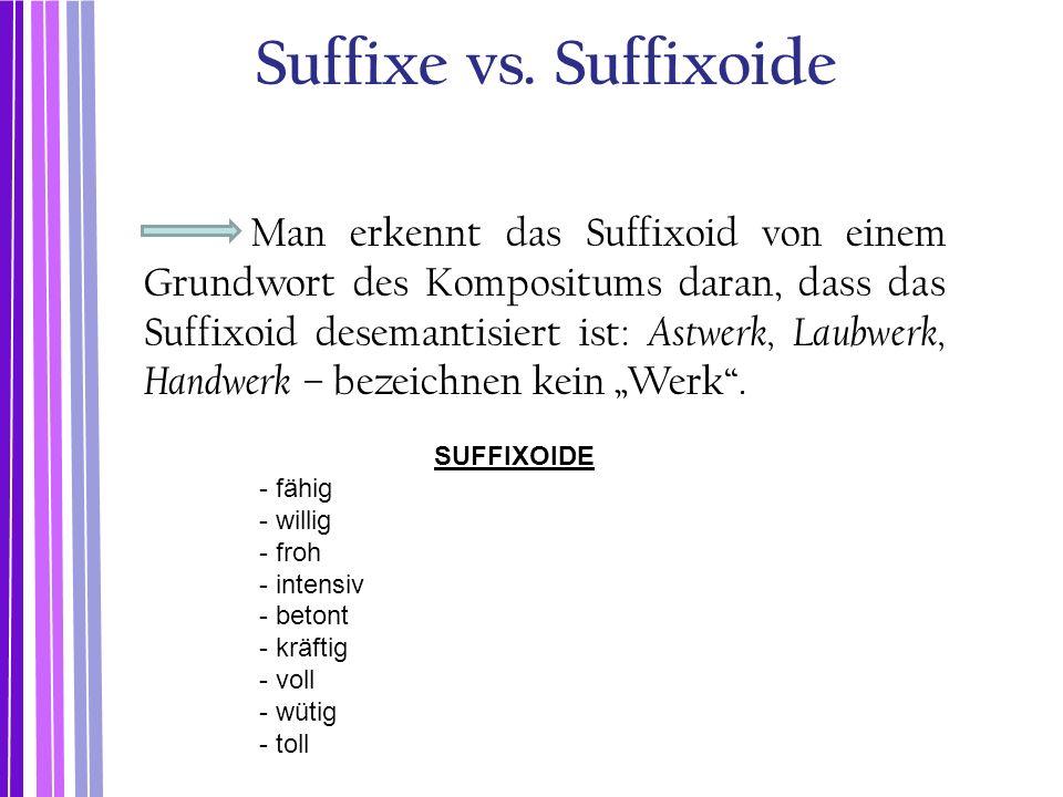 Suffixe vs. Suffixoide