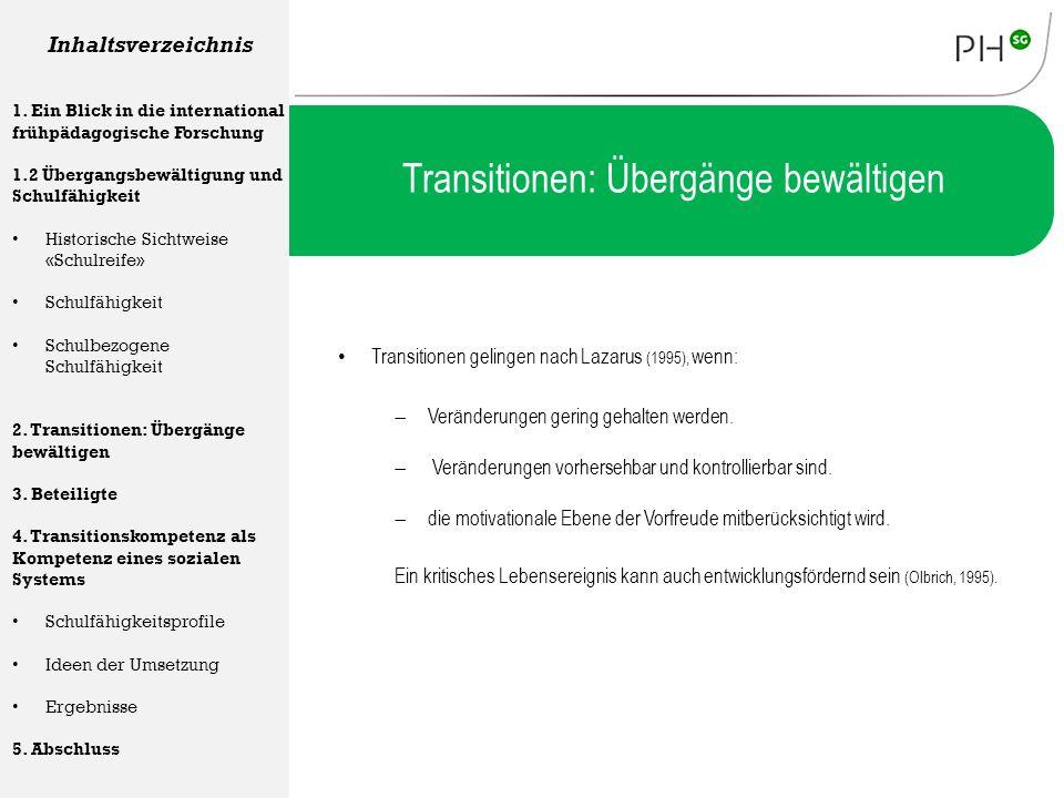 Transitionen: Übergänge bewältigen