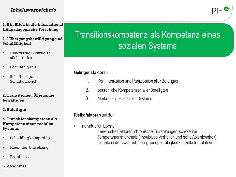 Transitionskompetenz als Kompetenz eines sozialen Systems