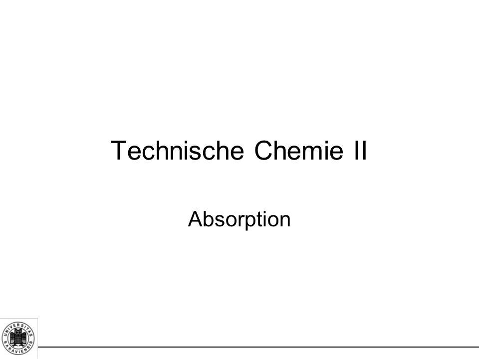 Technische Chemie II Absorption